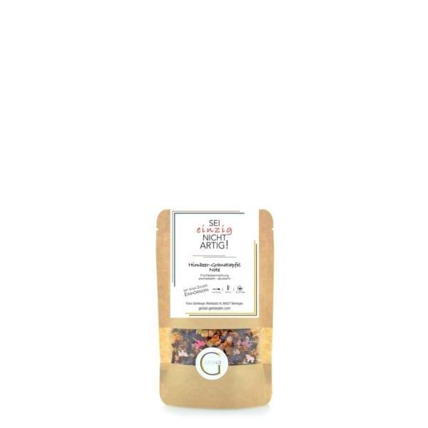 Früchteteemischung mit Himbeer-Granatapfel Note und rosa Zuckereinhörnern - kleine Packung
