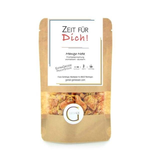 Genial Genießen - Zeit für dich Tee. Ein Früchtetee der Extraklasse einfach nur für DICH! Mit extra-großen Mango-Fruchtstücken. Große Packung.