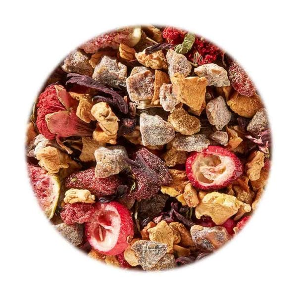 Genial Genießen Ho ho Hot Cranberry - Früchtetee mit Cranberry-Dattel-Zimt-Note. Detailfoto