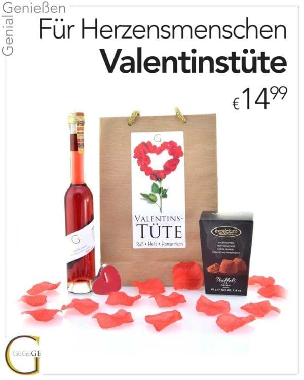 Valentinstüte von Genial Genießen, perfekte Geschenkidee für Sie zu Valentin - Inhaltsfoto