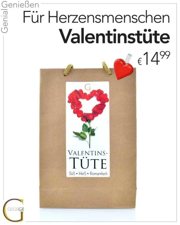 Valentinstüte von Genial Genießen, perfekte Geschenkidee für Sie zu Valentin - Verpackung