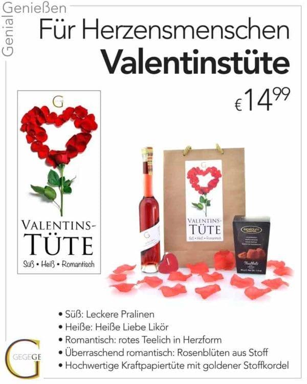 Valentinstüte von Genial Genießen, perfekte Geschenkidee für Sie zu Valentin - Inhalt und Beschreibung