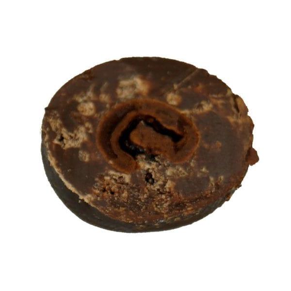 Genial Genießen Kaffeebohnen in Zartbitterschokolade Detailaufnahme