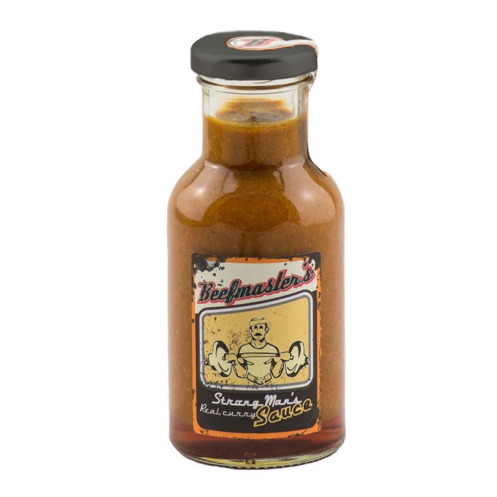 Gourmet Leon Grillsoße in Flasche mit Geschmack von Beefmasters strong mans real curry