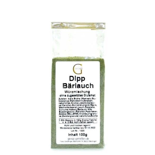 Genial Genießen Bärlauch Dip - sehr lecker als Brotaufstrich, Dip für Fingerfood - einfach anrühren mit Creme Fraîche oder schmand - kleine Ansicht