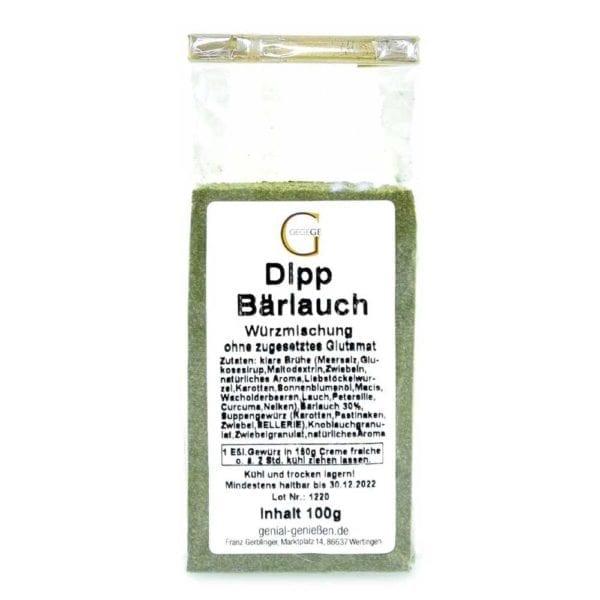 Genial Genießen Bärlauch Dip - sehr lecker als Brotaufstrich, Dip für Fingerfood - einfach anrühren mit Creme Fraîche oder schmand - große Ansicht
