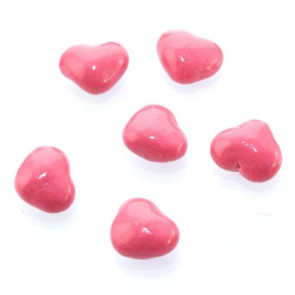 Erdbeer Herzen auf Dinkelbasis