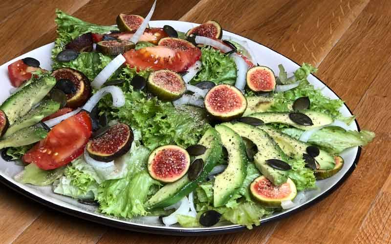 Rezept Feigen Avocado Salat - Nahaufnahme