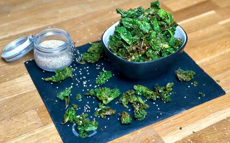 Knusprige-Grünkohl Chips - Rezept