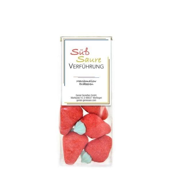 Genial Genießen Süß Saure Verführung - Erdbeer Marshamallow Erdbeeren im Beutel