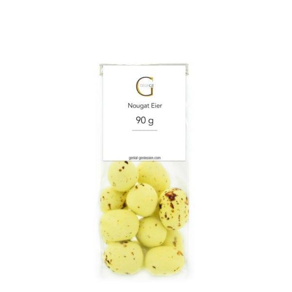 Genial Genießen Nougat Eier - Geschenk für Ostern - Wie echte Wachteleier in Verpackung