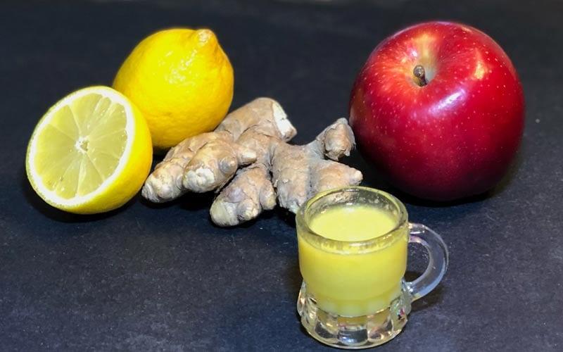 Immunbooster Zitrone Ingwer Shot