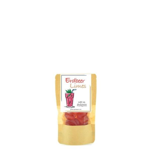 Genial Genießen alkoholische Fruchtgummis mit dem Geschmack nach Erdbeer Limes - kleine Verpackung