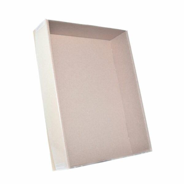 Stülpdeckelkarton mit Klarsichtdeckel 215x153x45- Ansicht 2