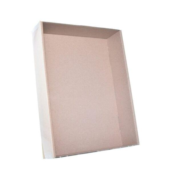 Stülpdeckelkarton mit Klarsichtdeckel 215x153x45- Ansicht 1