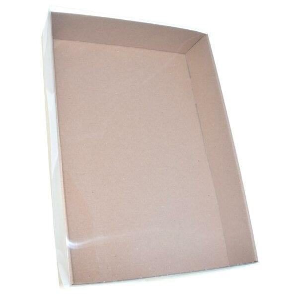 Stülpdeckelkarton mit Klarsichtdeckel 370x250x60 - Ansicht 1